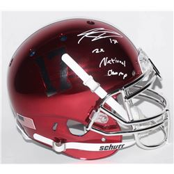 Kenyan Drake Signed Alabama Crimson Tide Full-Size Authentic On-Field Chrome Helmet Inscribed  2x Na