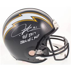 LaDainian Tomlinson Signed Los Angeles Chargers Throwback Full-Size Authentic On-Field Helmet Inscri