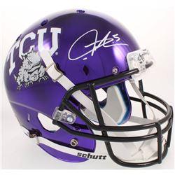LaDainian Tomlinson Signed TCU Horned Frogs Purple Chrome Full-Size Helmet (Radtke COA)