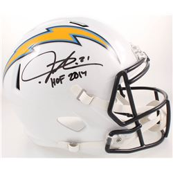 "LaDainian Tomlinson Signed San Diego Chargers Full-Size Speed Helmet Inscribed ""HOF 2017"" (Radtke CO"