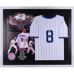"""Andre Dawson Signed Chicago Cubs 35.5x43.5 Custom Framed Jersey Inscribed """"The Hawk"""" (JSA Hologram"""