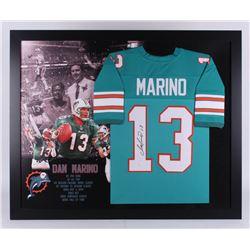 Dan Marino Signed Miami Dolphins 35.5x43.5 Custom Framed Jersey (JSA Hologram)