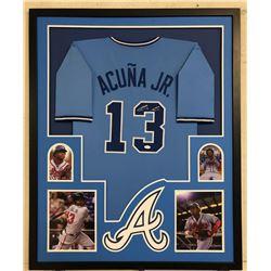 Ronald Acuna Jr. Signed Atlanta Braves 34x42 Custom Framed Jersey (JSA COA)