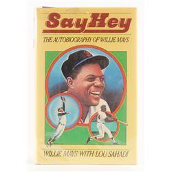"""Willie Mays Signed """"Say Hey"""" Hardback Book (PSA COA)"""