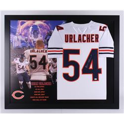 Brian Urlacher Signed Chicago Bears 35.5x43.5 Custom Framed Jersey (JSA Hologram)