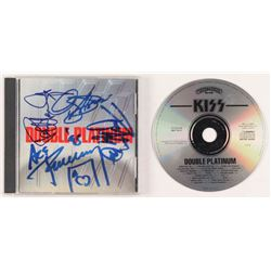 "KISS ""Double Platinum"" CD Album Signed by (4) With Gene Simmons, Ace Frehley, Paul Stanley,  Peter C"