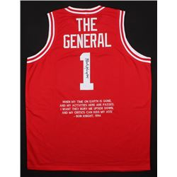 "Bob Knight Signed Indiana Hoosiers ""The General"" Jersey with Custom Stitched Quote (JSA COA)"