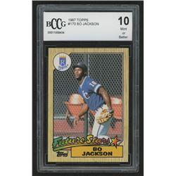 1987 Topps #170 Bo Jackson RC (BCCG 10)