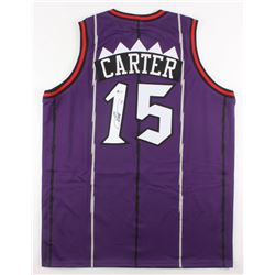 Vince Carter Signed Toronto Raptors Throwback Jersey (Beckett COA)