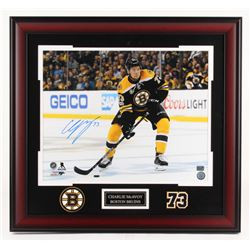 Charlie McAvoy Signed Boston Bruins 25.5x27.5 Custom Framed Photo (McAvoy COA)