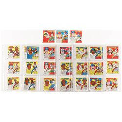Complete Set of (33) 1979 Topps Comics Baseball Cards with #9 George Brett, #4 Nolan Ryan, #21 Johnn