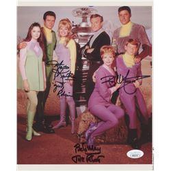 "Bob May, Bill Mumy,  Marta Kristen Signed ""Lost in Space"" 8x10 Photo with Inscriptions (JSA COA)"