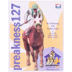 2002 Preakness Stakes Magazine Signed by (13) with Robby Albarado, Chris Mccaron, Jerry Baily, Edgar