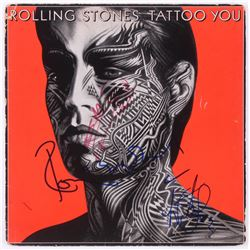 """Keith Richards, Ronnie Wood  Charlie Watts Signed The Rolling Stones """"Tattoo You"""" Vinyl Record Album"""