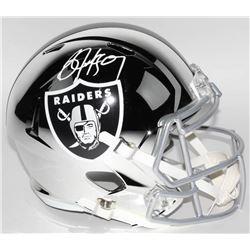 Bo Jackson Signed Oakland Raiders Full-Size Chrome Speed Helmet (JSA COA)