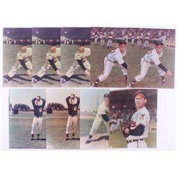Lot of (9) Bob Lemon Signed Cleveland Indians 8x10 Photos (JSA ALOA)