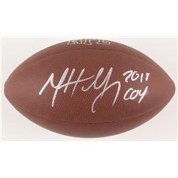 "Matt Nagy Signed Full-Size NFL Football Inscribed ""2018 COY"" (JSA COA)"