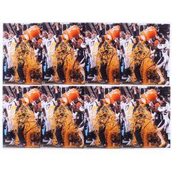 Lot of (8) Gary Kubiak Signed Denver Broncos Super Bowl 50 8x10 Photos (JSA ALOA)