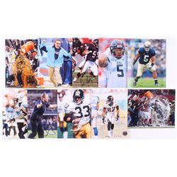 Lot of (10) Signed NFL 8x10 Photos with Jason Garrett, Manti Te'o, Robert Nkemdiche, Ron Rivera (JSA