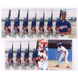 Lot of (13) Juan Gonzalez Signed Texas Rangers 8x10 Photos (JSA ALOA)