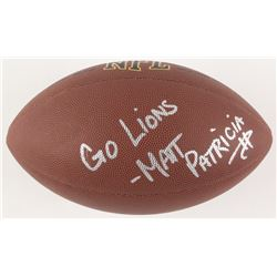 "Matt Patricia Signed Full-Size NFL Football Inscribed ""Go Lions"" (JSA COA)"