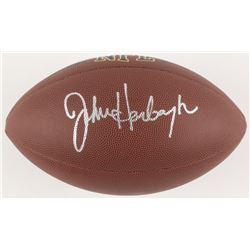 John Harbaugh Signed Full-Size NFL Football (JSA COA)