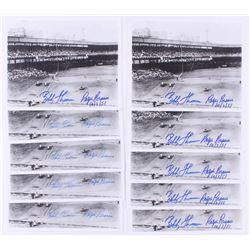 "Lot of (10) Bobby Thomson  Ralph Branca Signed ""Shot Heard 'Round the World"" 8x10 Photos (JSA ALOA)"