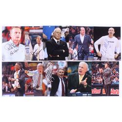Lot of (10) Signed NCAA Coaches 8x10 Photos with Bruce Pearl, Buzz Williams, Larry Brown, Dana Altma