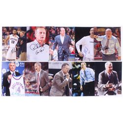 Lot of (10) Signed NCAA Coaches 8x10 Photos with John Beilein, Mike Brey, Rick Barnes, Mark Few, And