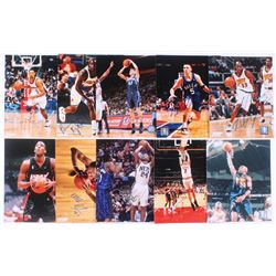 Lot of (10) Signed NBA 8x10 Photos with DerMarr Johnson, Eddie Jones, Antawn Jamison, Jason Kidd, An