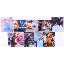 Lot of (10) Signed NFL Coaches 8x10 Photos with Bill O'Brien, Hue Jackson, Marv Levy, Gary Kubiak, J