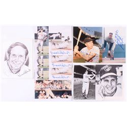 Lot of (9) Brooks Robinson Signed Baltimore Orioles Prints with (8) 8x10 Photos  (1) 8.5x11 Lithogra