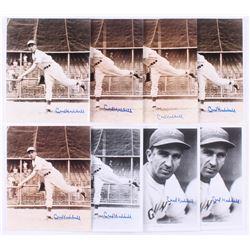 Lot of (8) Carl Hubbell Signed New York Giants 8x10 Photos (JSA ALOA)