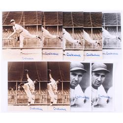 Lot of (9) Carl Hubbell Signed New York Giants 8x10 Photos (JSA ALOA)