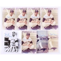 Lot of (8) Monte Irvin Signed New York Giants 8x10 Photos (JSA ALOA)