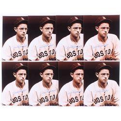 Lot of (8) Dom DiMaggio Signed Boston Red Sox 8x10 Photos (JSA ALOA)