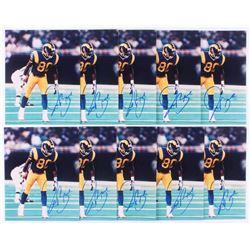 Lot of (10) Isaac Bruce Signed St. Louis Rams 8x10 Photos (JSA ALOA)