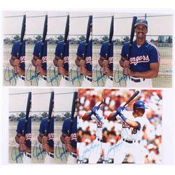Lot of (11) Juan Gonzalez Signed Texas Rangers 8x10 Photos (JSA ALOA)