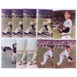 Lot of (10) Bob Lemon Signed Cleveland Indians 8x10 Photos (JSA ALOA)