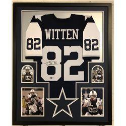 Jason Witten Signed Dallas Cowboys 34x42 Custom Framed Jersey (Beckett COA  Witten Hologram)