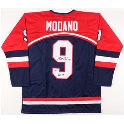 "Mike Modano Signed Team USA Jersey Inscribed ""HOF 14"" (Beckett COA)"