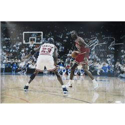 Michael Jordan Signed Chicago Bulls LE 16x24 Photo (UDA Hologram)