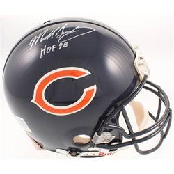 """Mike Singletary Signed Chicago Bears Full-Size Authentic Pro-Line Helmet Inscribed """"HOF 98"""" (JSA COA"""