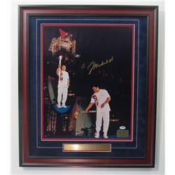 """Muhammad Ali Signed """"1996 Olympics"""" 22x26 Custom Framed Photo (PSA LOA)"""