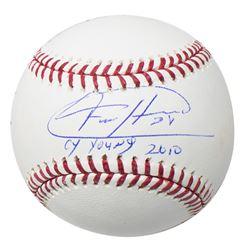"Felix Hernandez Signed OML Baseball with Display Case Inscribed ""CY Young 2010"" (JSA COA)"
