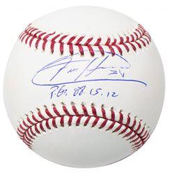 "Felix Hernandez Signed OML Baseball with Display Case Inscribed ""P.G. 08-15-12"" (JSA COA)"