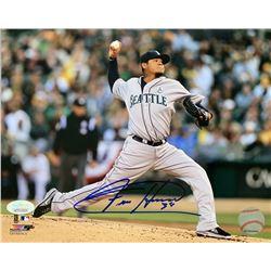 Felix Hernandez Signed Seattle Mariners 8x10 Photo (JSA COA)