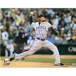 "Felix Hernandez Signed Seattle Mariners 16x20 Photo Inscribed ""CY Young 2010"" (JSA COA)"