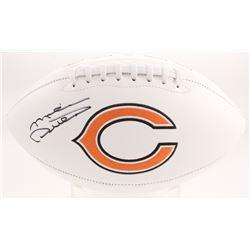 Mike Ditka Signed Chicago Bears Logo Football (JSA COA)