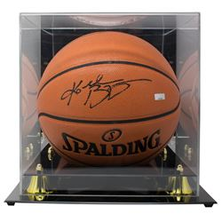 Kobe Bryant Signed NBA Basketball with Display Case (Panini COA)
